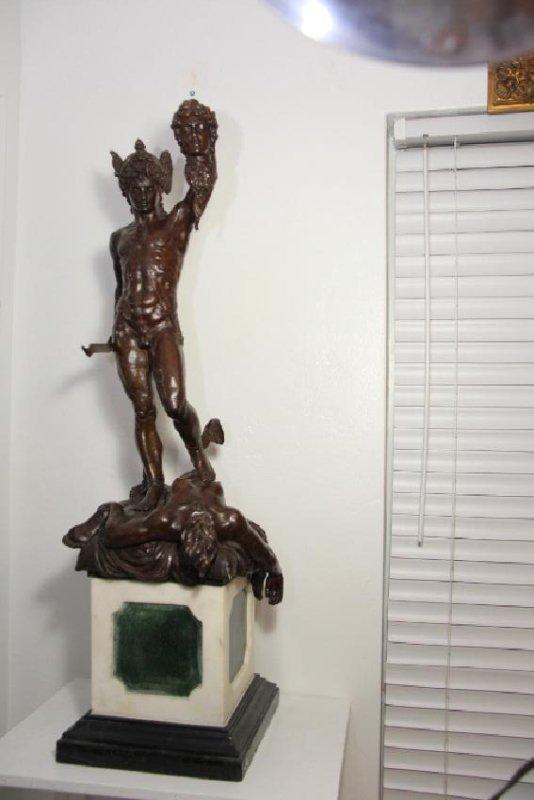 """Bronze Perseus Slay Medusa Statue Foundry Stamp 44"""""""