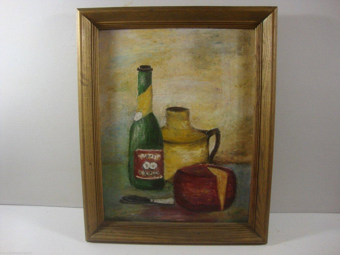 Kersch signed Vintage Original Oil painting Framed