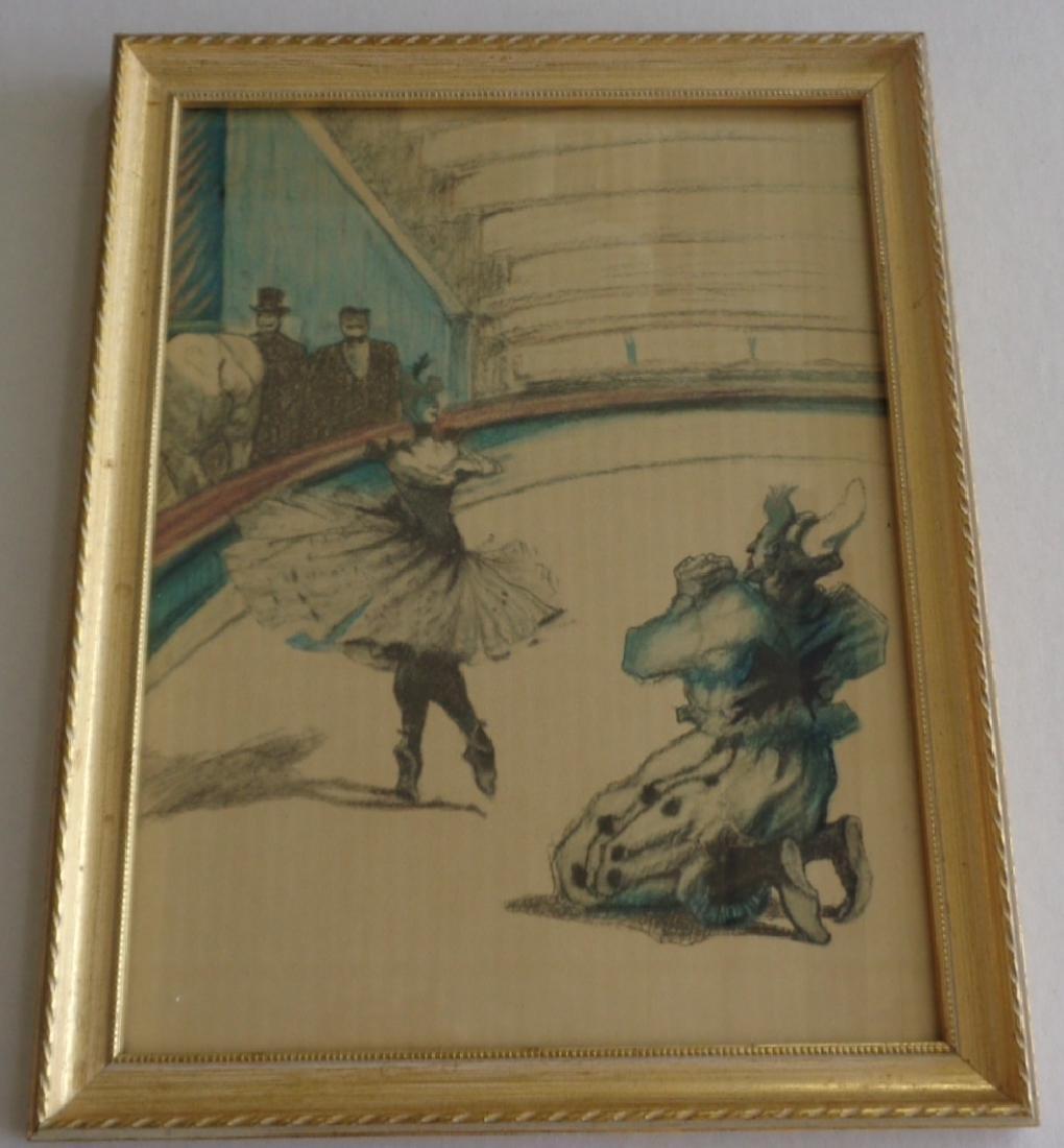 Rare Vintage Print with Wood Frame