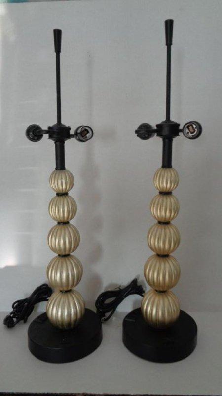 Pair Stacked Balls Designer Pearl Table Lamp