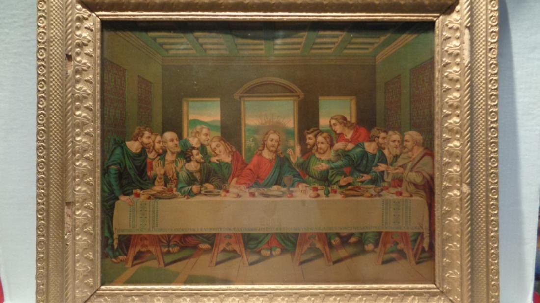La Sainte Cene - The Lord Supper Antique Lithograph
