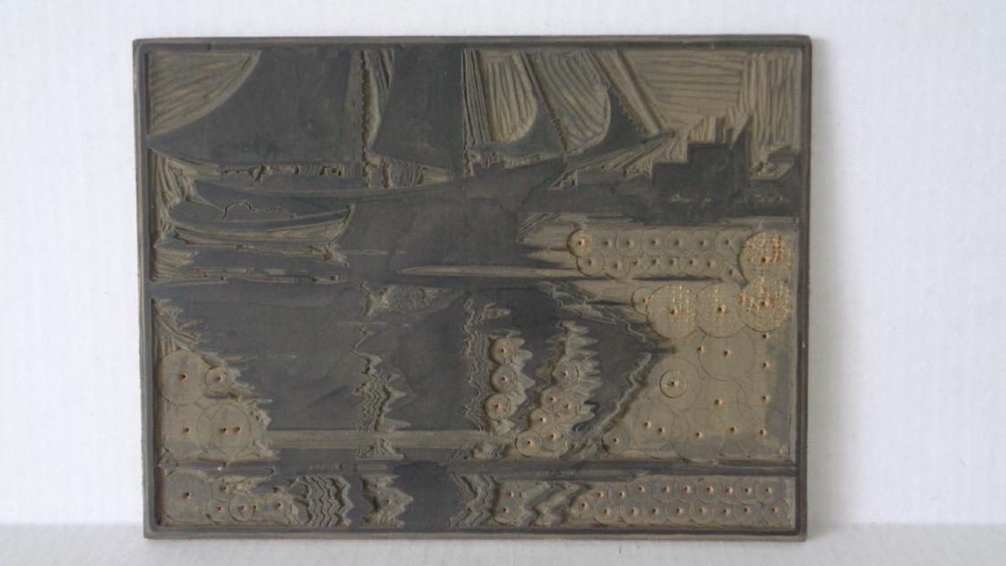 7 Original Linocut Artist's Plates by Jack Coggins
