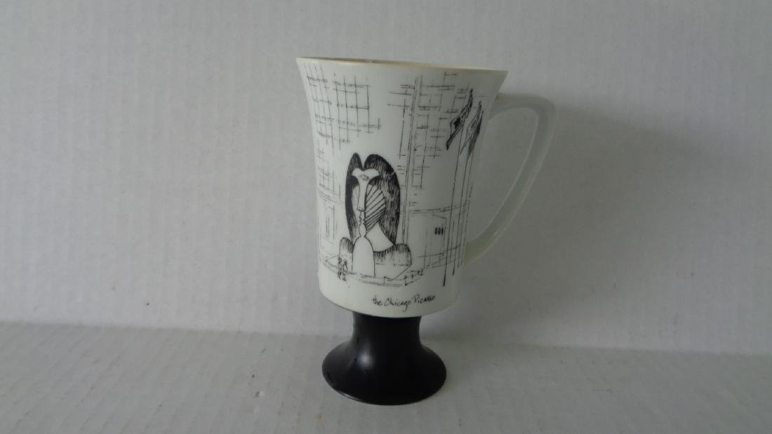 Vintage Black & White Picasso Footed Fine Seyei China