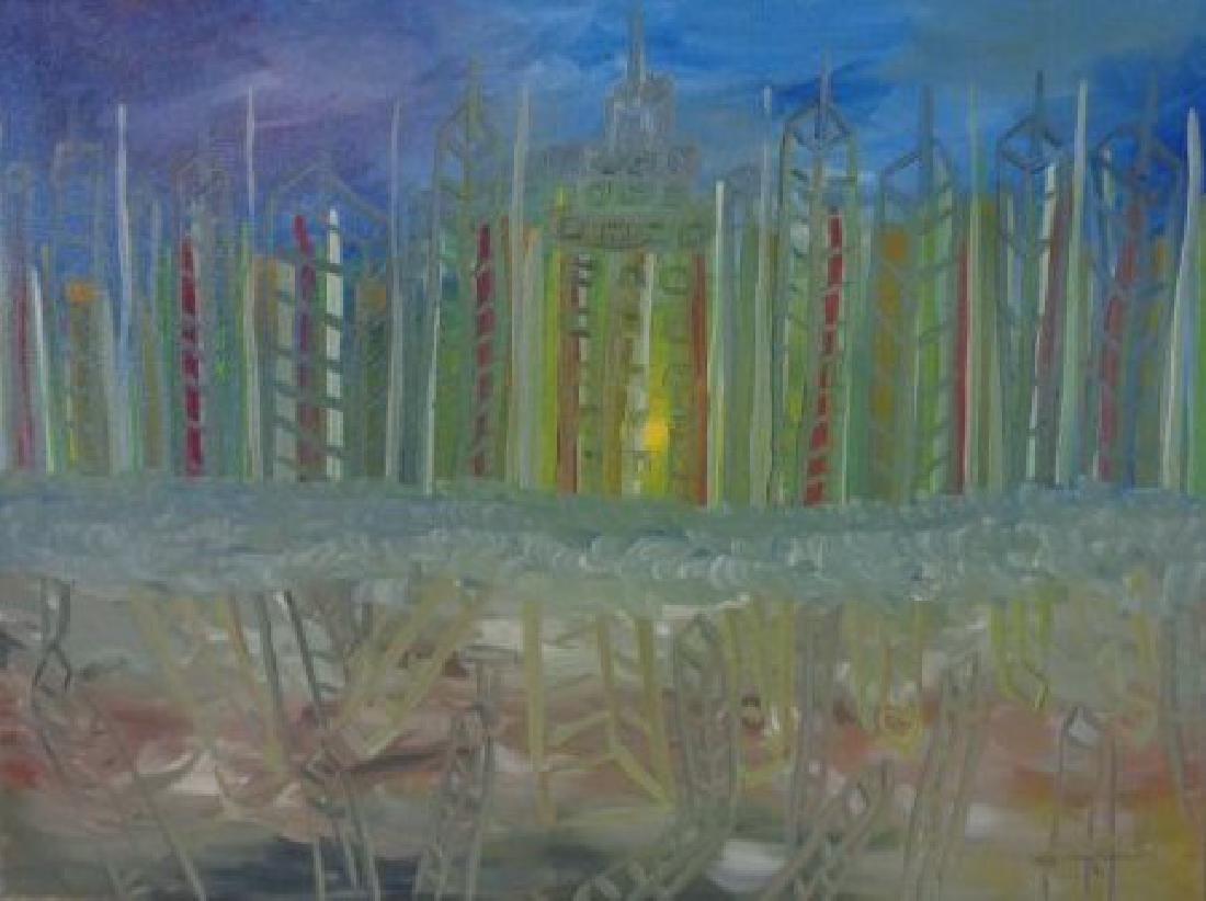 G Jaramillo Original Painting Abstract N York -N York