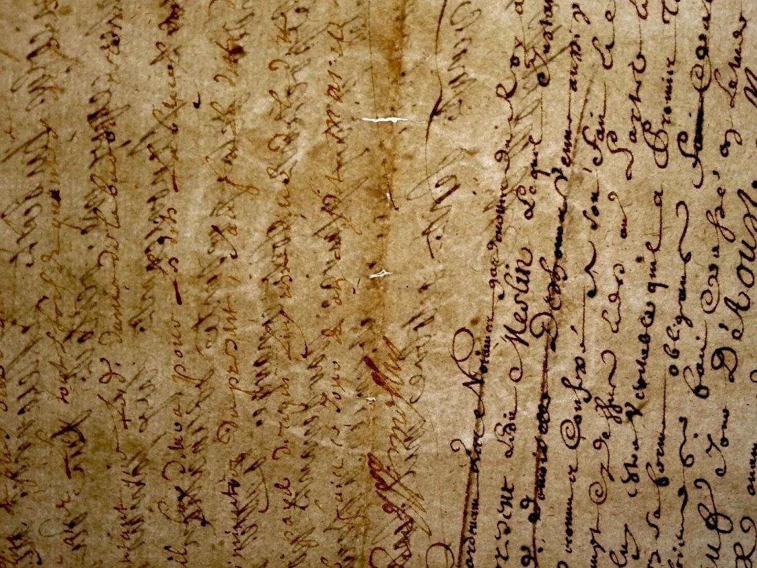 """Antique 1706 Document 8""""1/2 x 13 Signatures. Stamped - 8"""