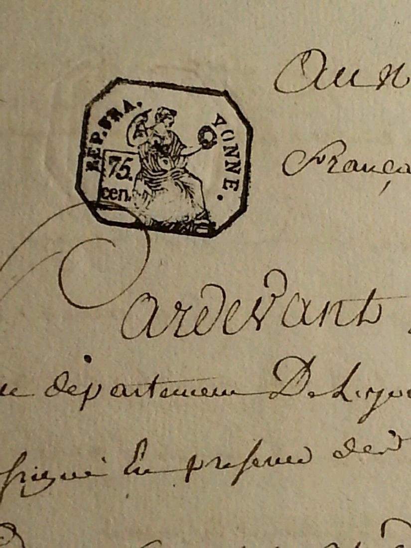 1802 Antique 8 Pages Notary Document Manuscripts