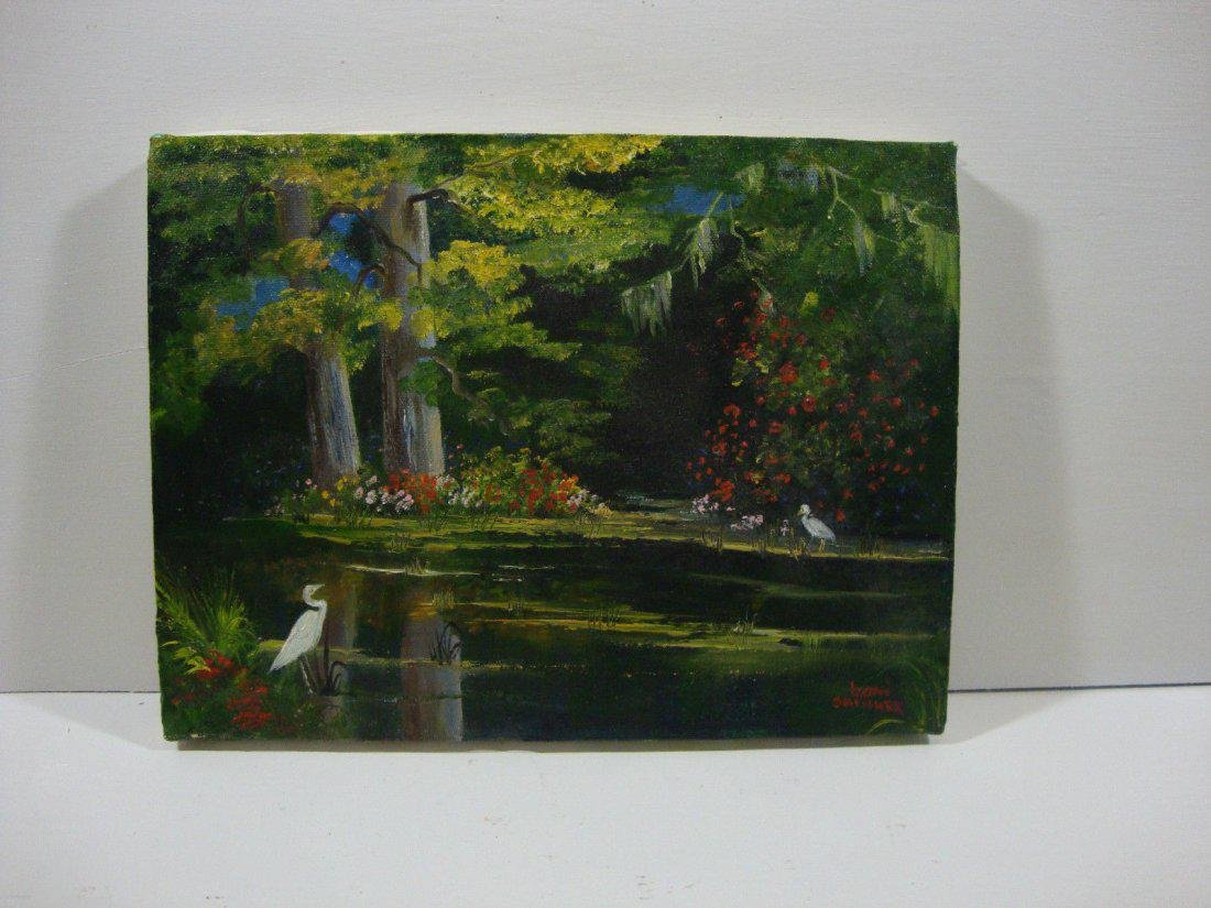 "Boni Skinner ""Exotic Birds in the Forest"" Original Oil - 4"