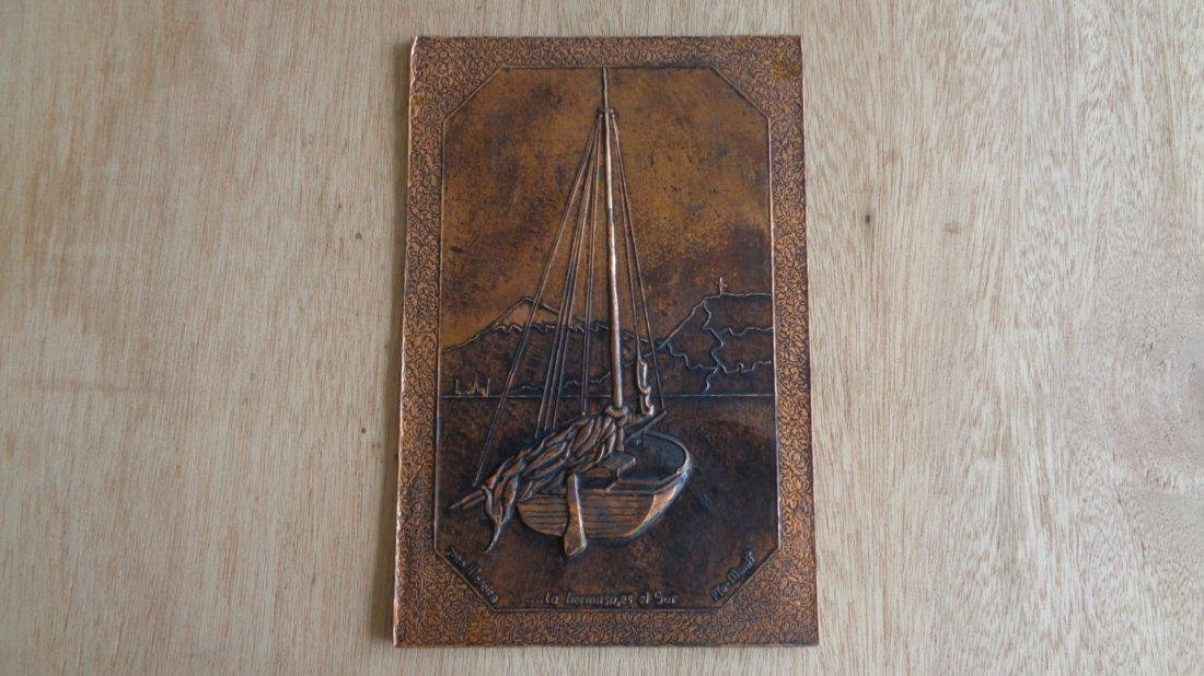Engraving Pressed Copper Plate Art by Artist