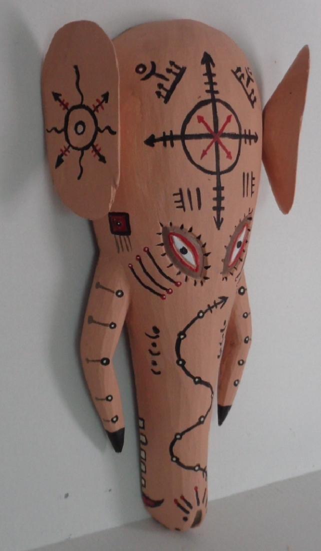 Elephant Tribal Wood Mask
