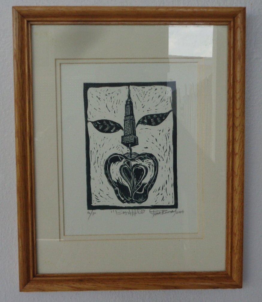"Jesus Rivera .Original Title: ""Big Apple""-A/P Engraving"