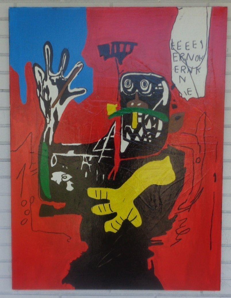 Jean-Michel Basquiat (1960 - 1988) GRAFFITI ART FIGURE.