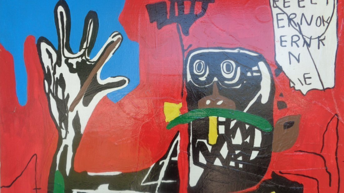 Jean-Michel Basquiat (1960 - 1988) GRAFFITI ART FIGURE. - 3