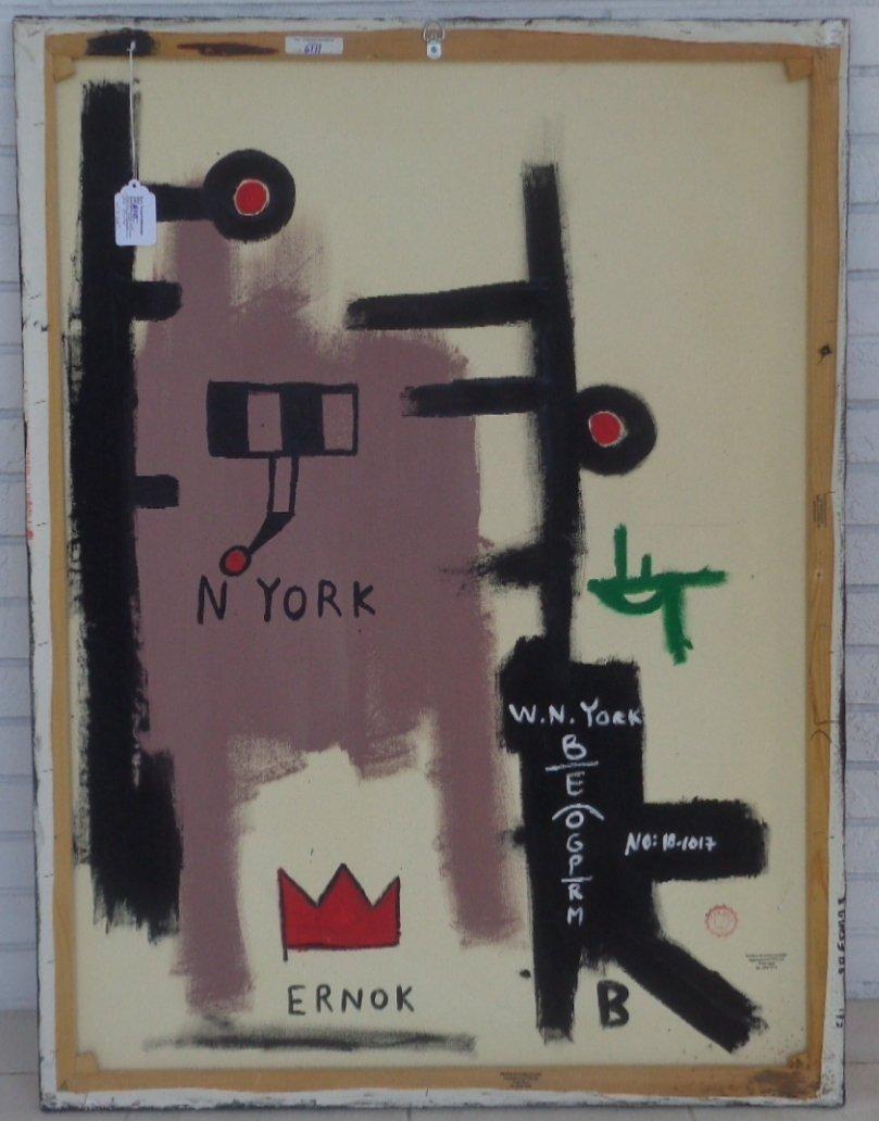 Jean-Michel Basquiat (1960 - 1988) GRAFFITI ART FIGURE. - 4