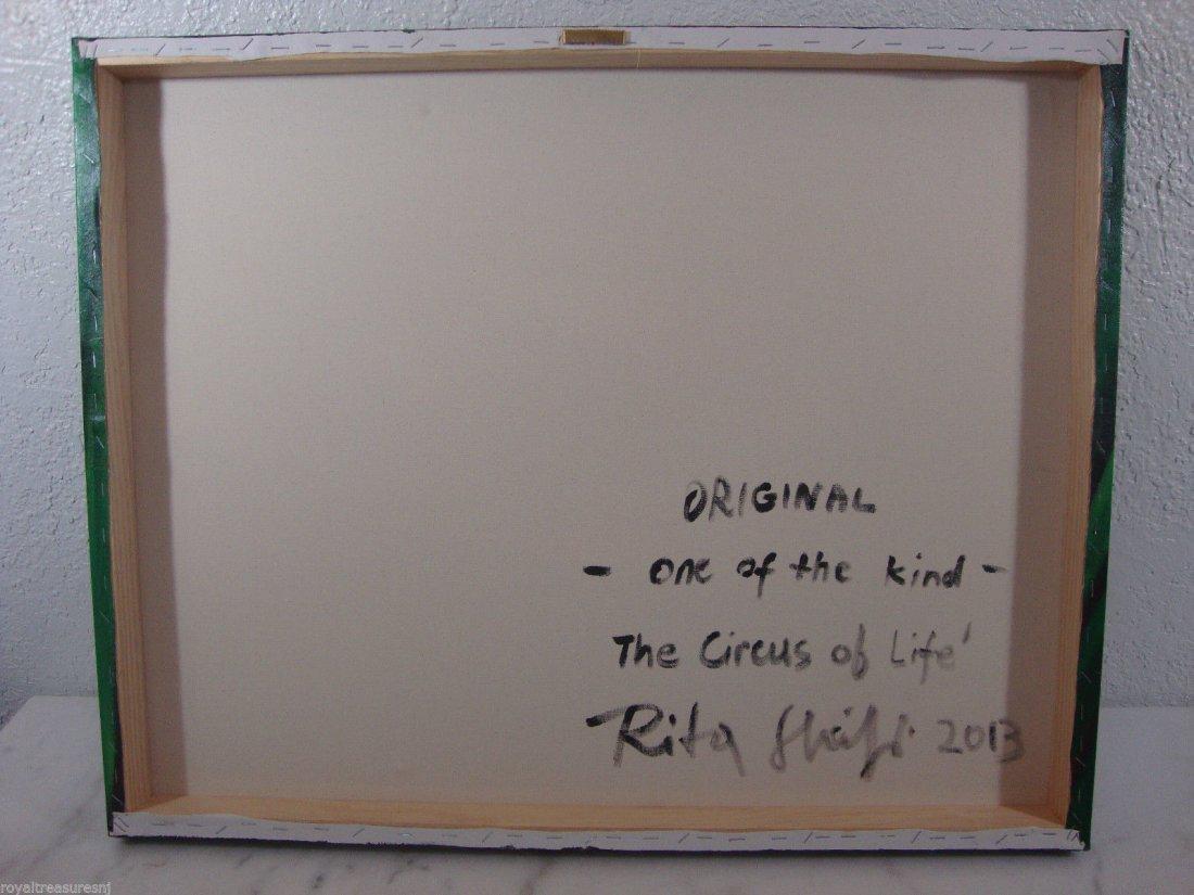 Rare Original Rita Sherifi Original Canvas - 2