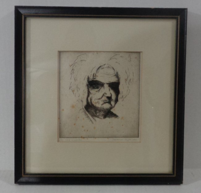 Original Drypoint Etching Patrice Scott, Signed,1/10