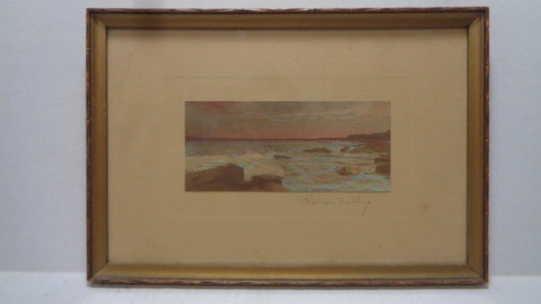 Original Wallace Nutting Hand Colored Beach Scene