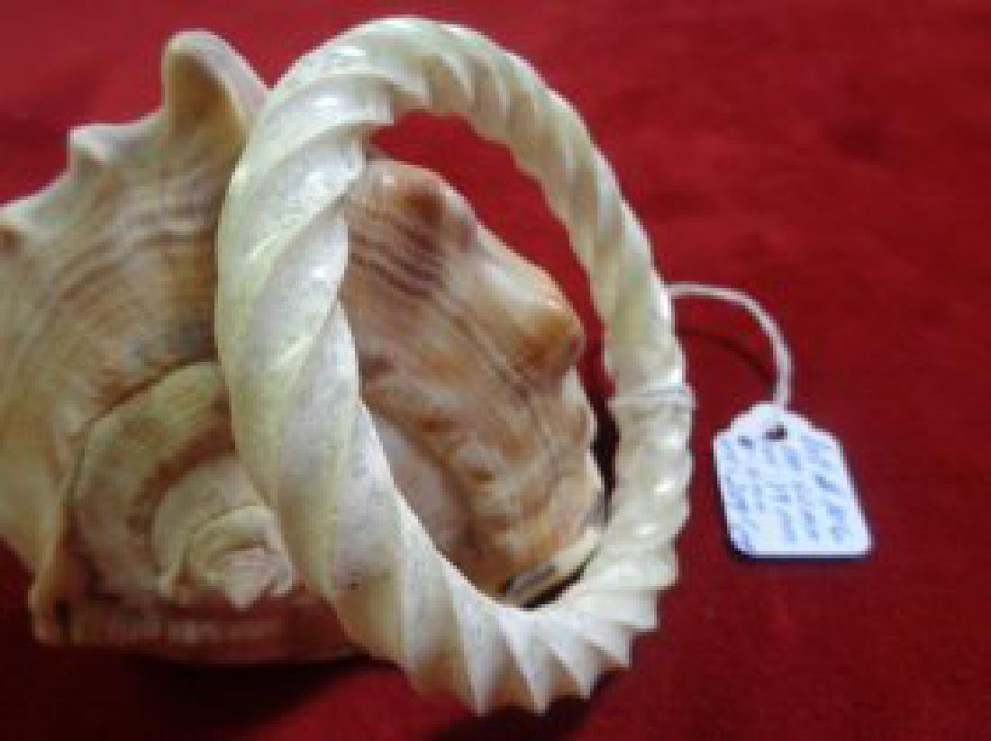 Natural Jade Twist Bangle