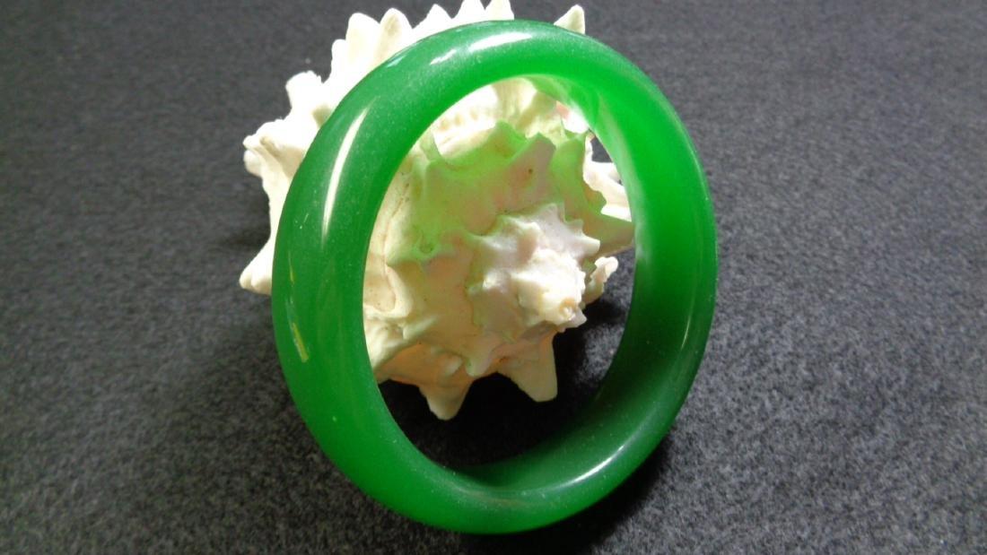 Natural Green Bangle Bracelet. inner: 69mm -outer: 78mm