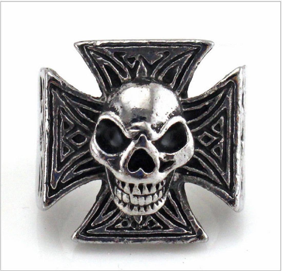 Skull shaped carving Men Biker ring Stainless Steel