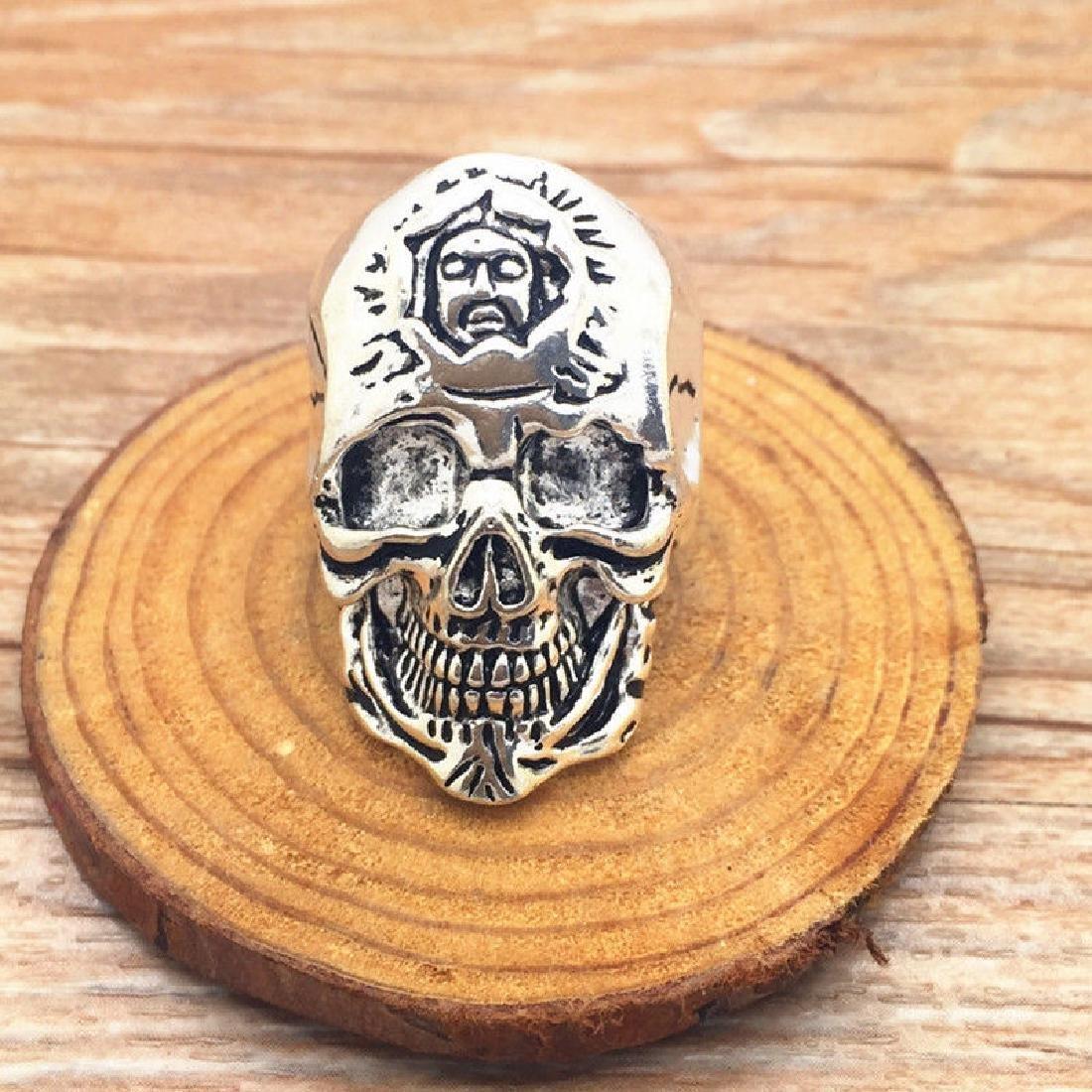 Stainless steel design Skull Ring