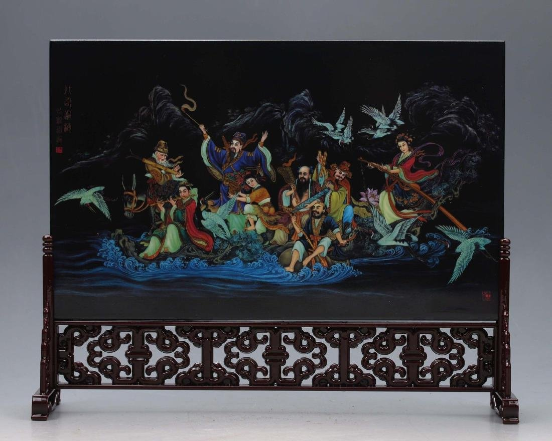 Chinese Hand-painted Eight Immortals crossing the sea