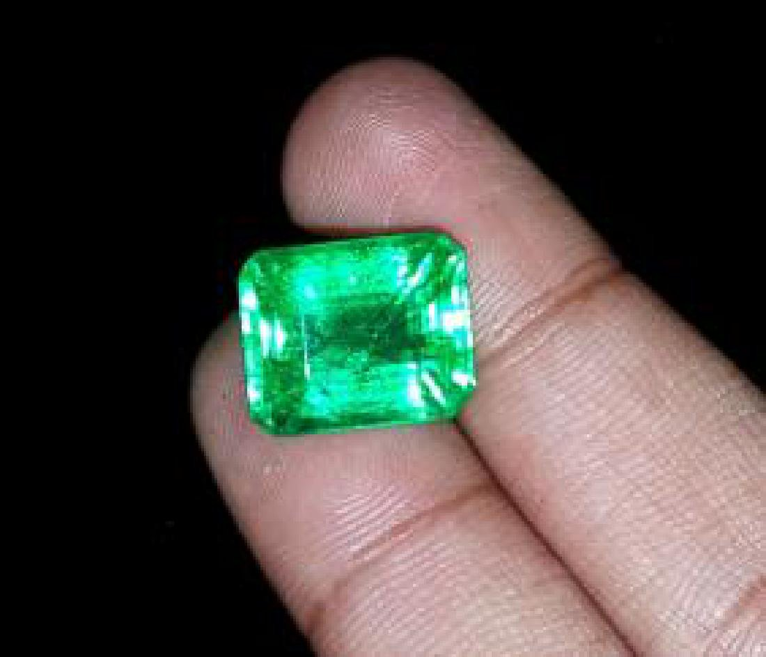 11.77 Ct Natural Certificate Colombian Emerald Shape