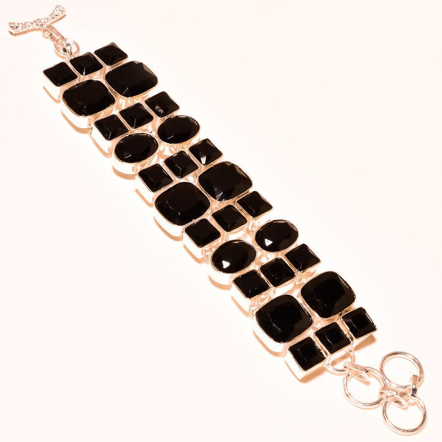 Black Spinel 925 Sterling Silver Bracelet