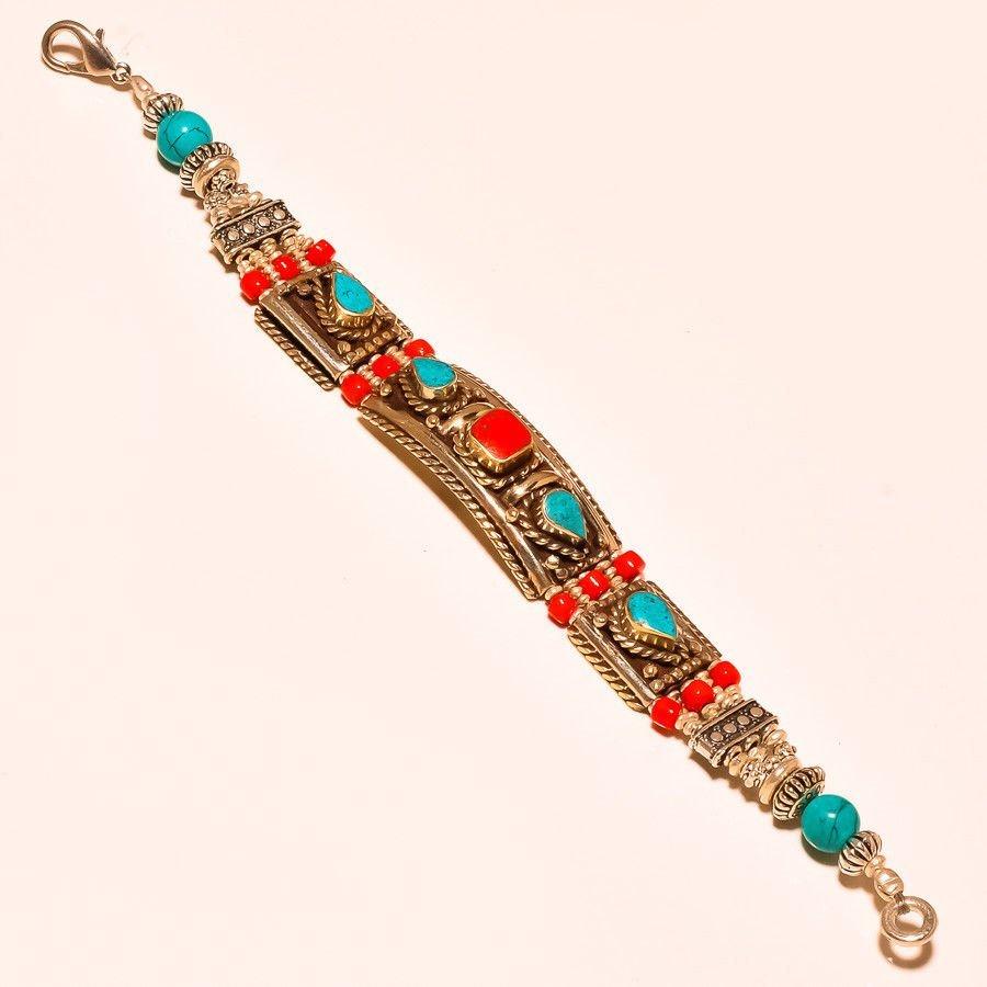 Lapiz with Red Coral Bracelet