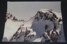 Large Winter Mountain Photo