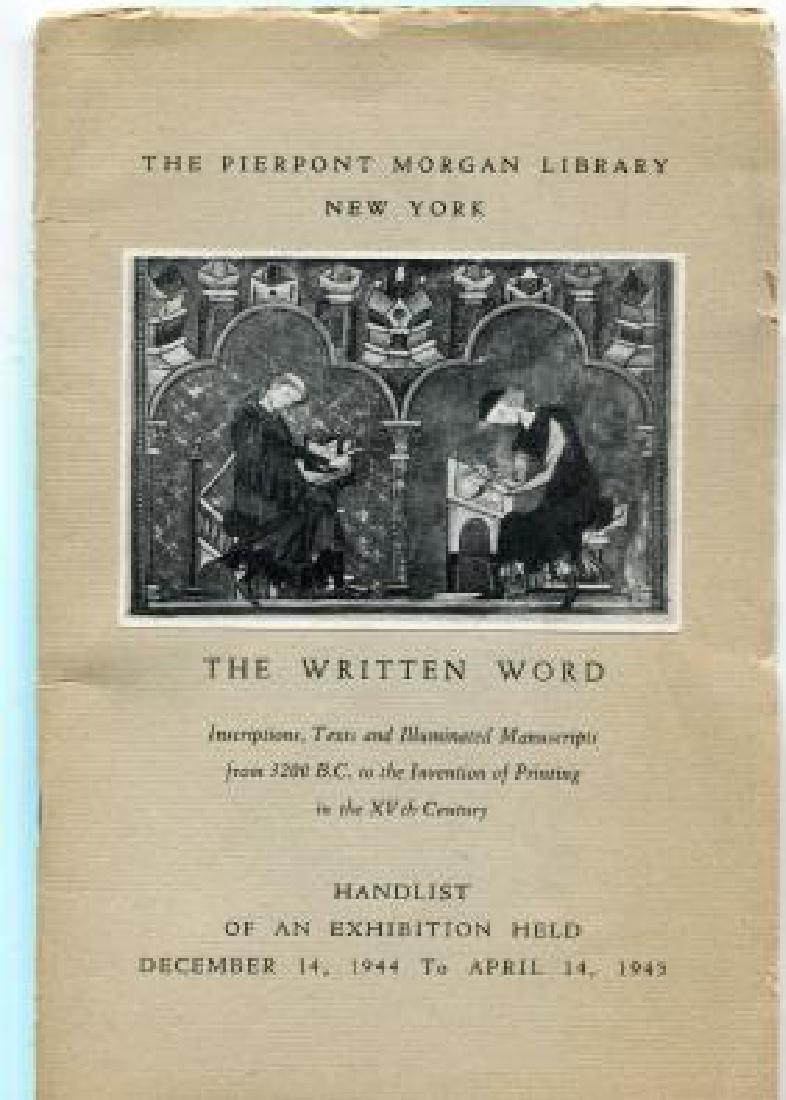 Written Word Inscription Illuminated Manuscript 1945