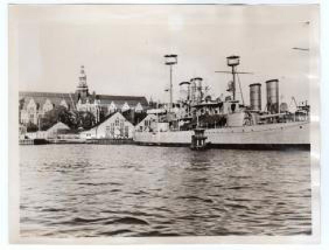 Swedish Battleships Ready for War 1940 Original Photo