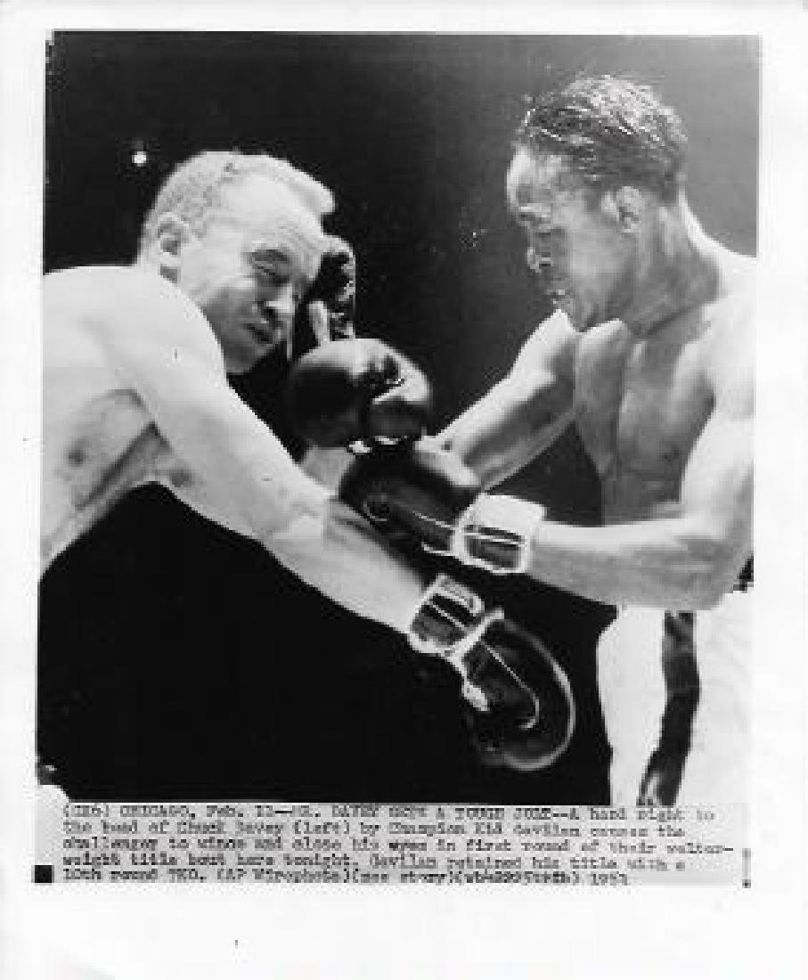 1959 Photo CHUCK DAVEY, KID GAVILAN, BOXERS