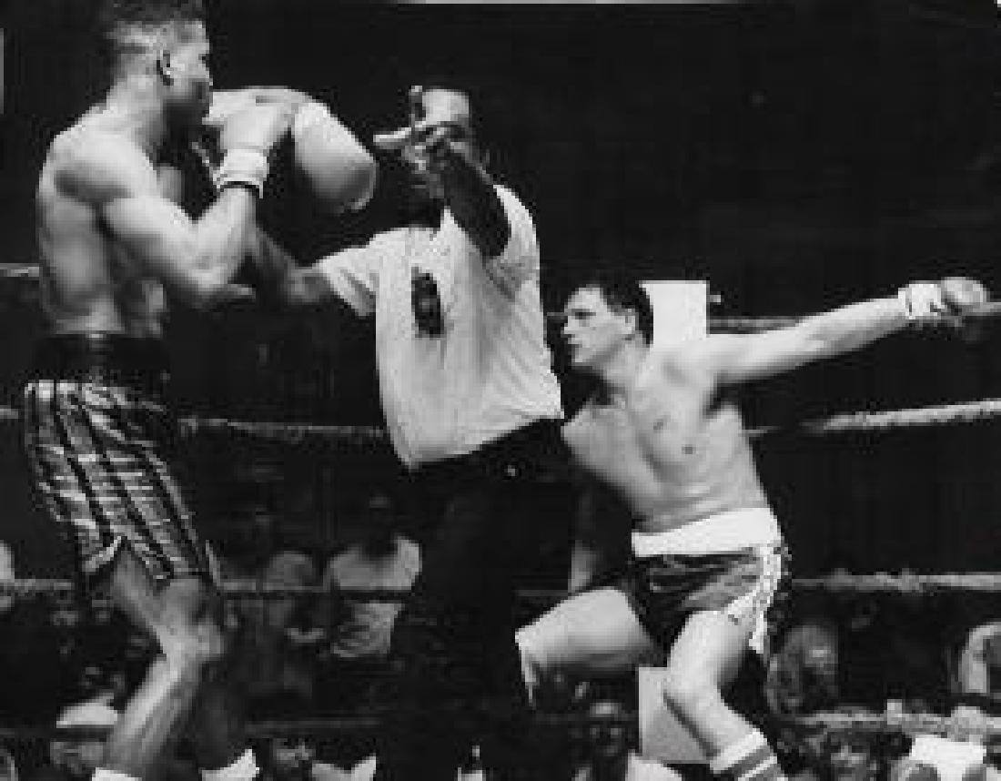 1987 Photo Boxing Craig Bodzianowski Knock Out By