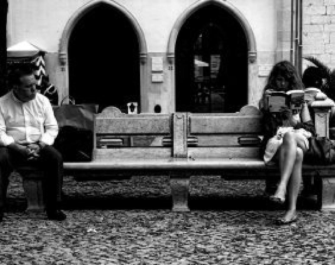 Black and White Paris Photo