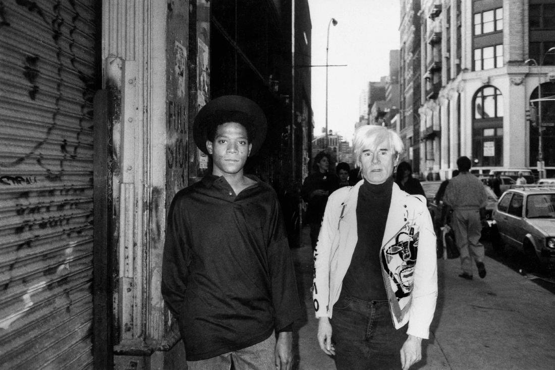 B & W Basquiat and Andy Warhol -Photo