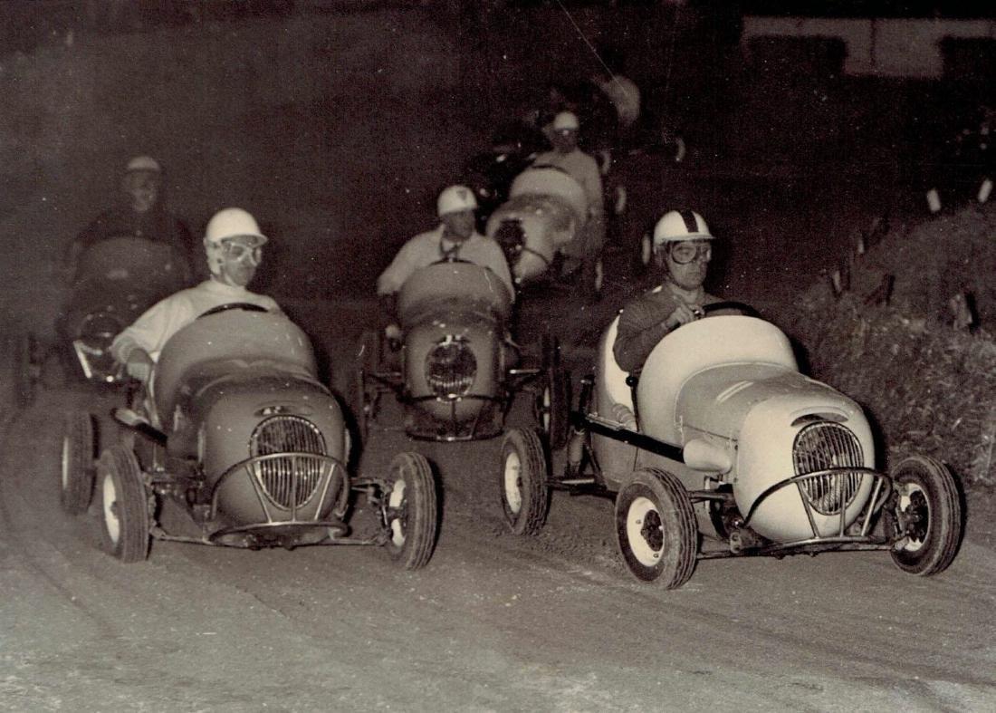 1958 famous drivers midget race Palais Des Sport Paris