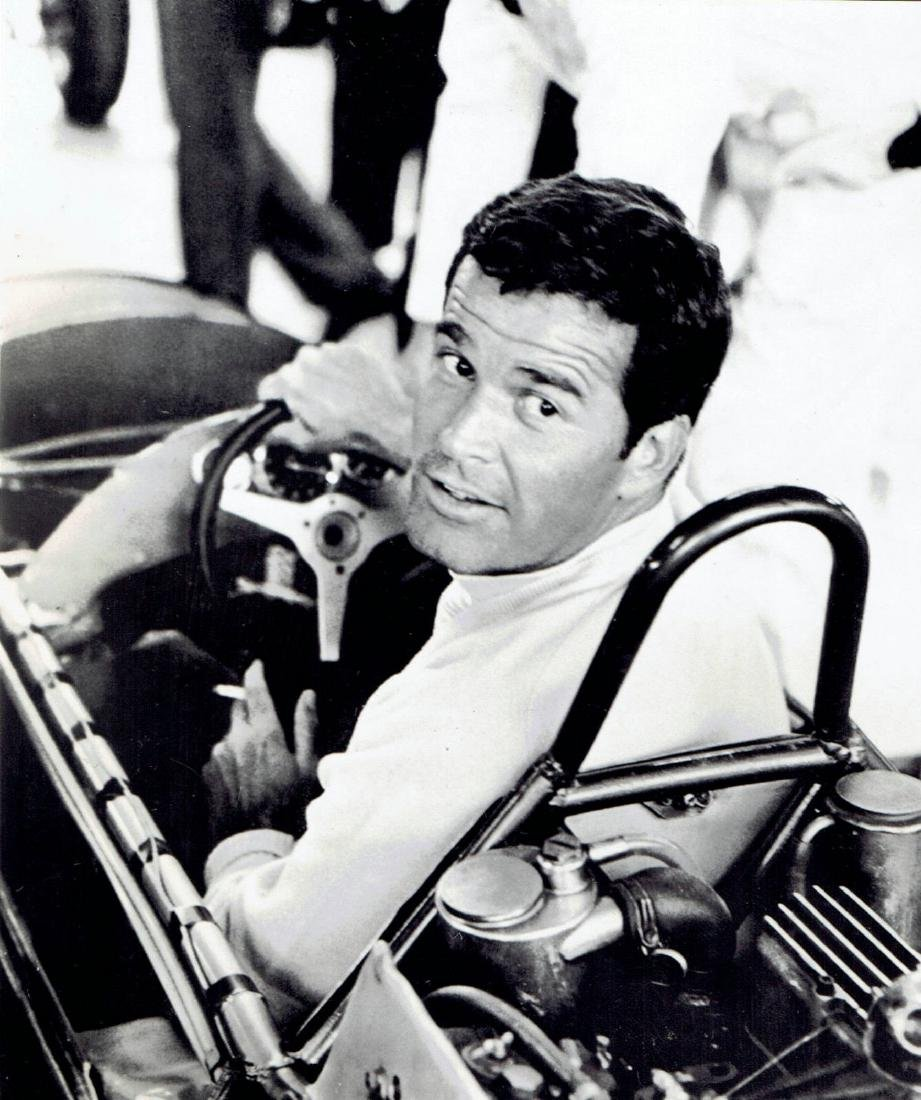 "1966 ""Grand Prix""actor James Garner in racing car Photo"