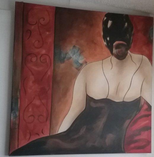 Giglee Painting by Bella Karawaewa Prado, Brazilian