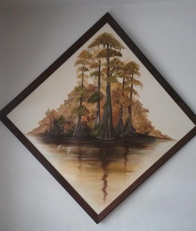 Original Canvas painting signed B. Alderman