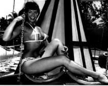B & W Betty Page -Photo