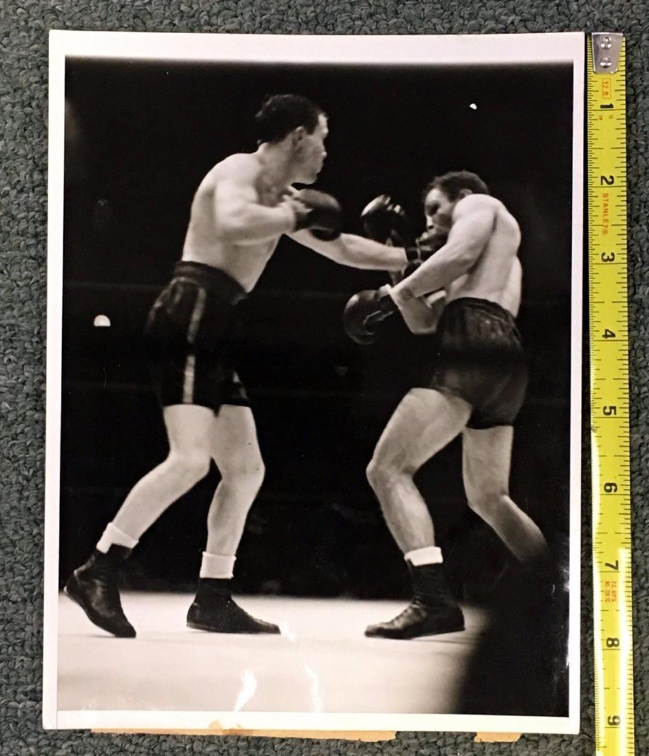 B&W Vtg 1937 Boxing Photo Lou Ambers VS Pedro Mont