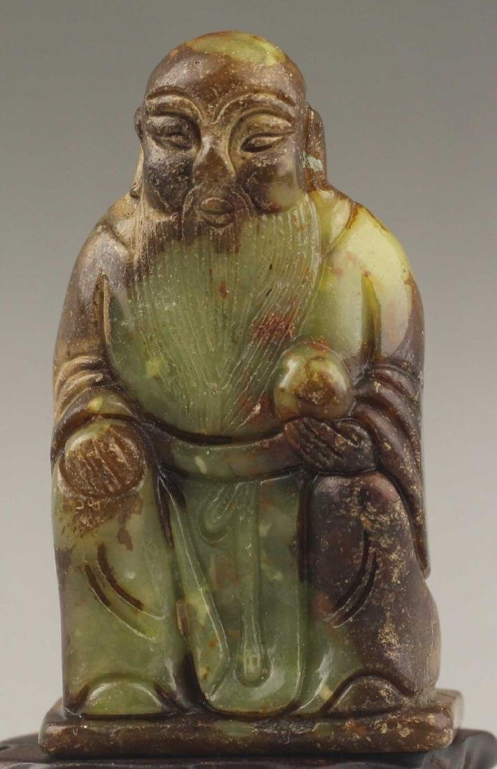 Ancient Natural Jade hand-carved Buddha Statue
