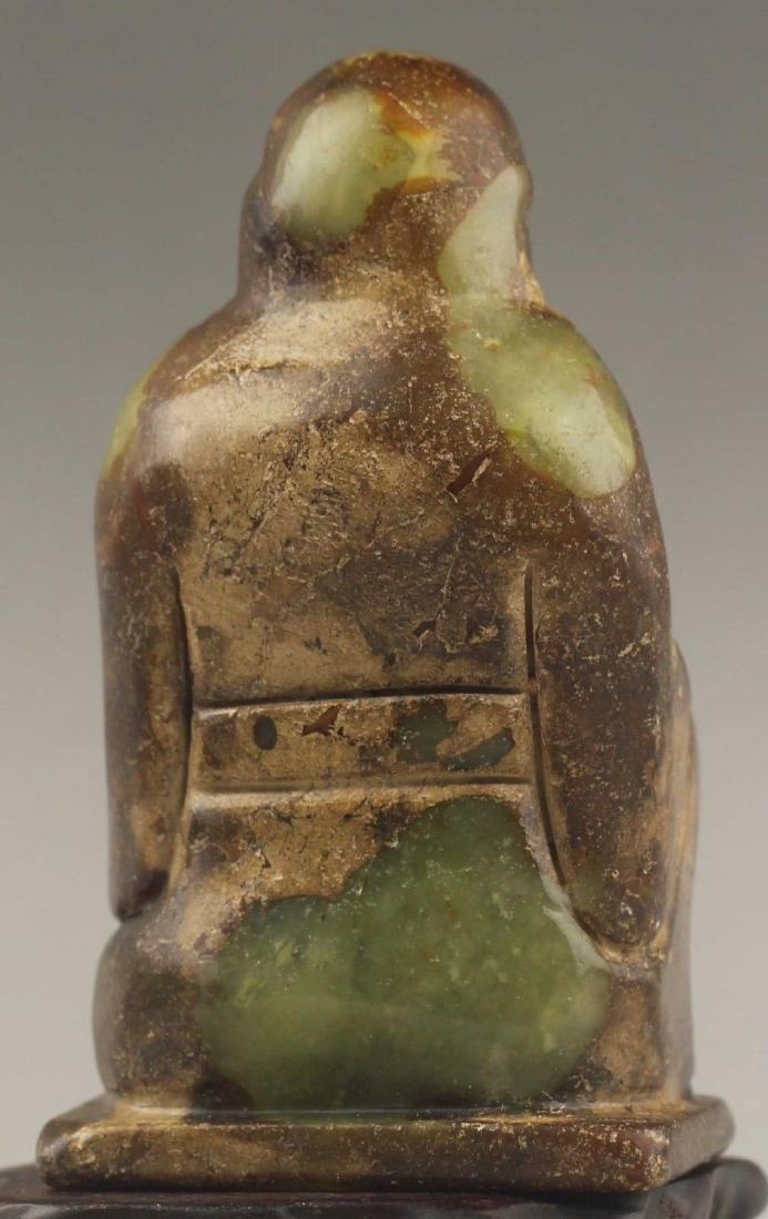 Ancient Natural Jade hand-carved Buddha Statue - 4