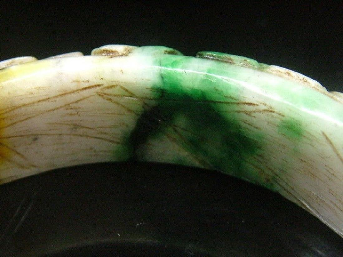 Ancient Hand Carved Nephrite Celadon Jade Bang - 2
