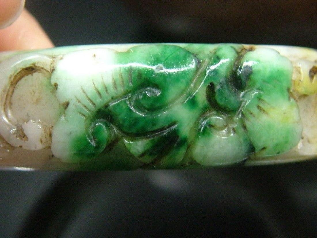 Ancient Hand Carved Nephrite Celadon Jade Bang - 5