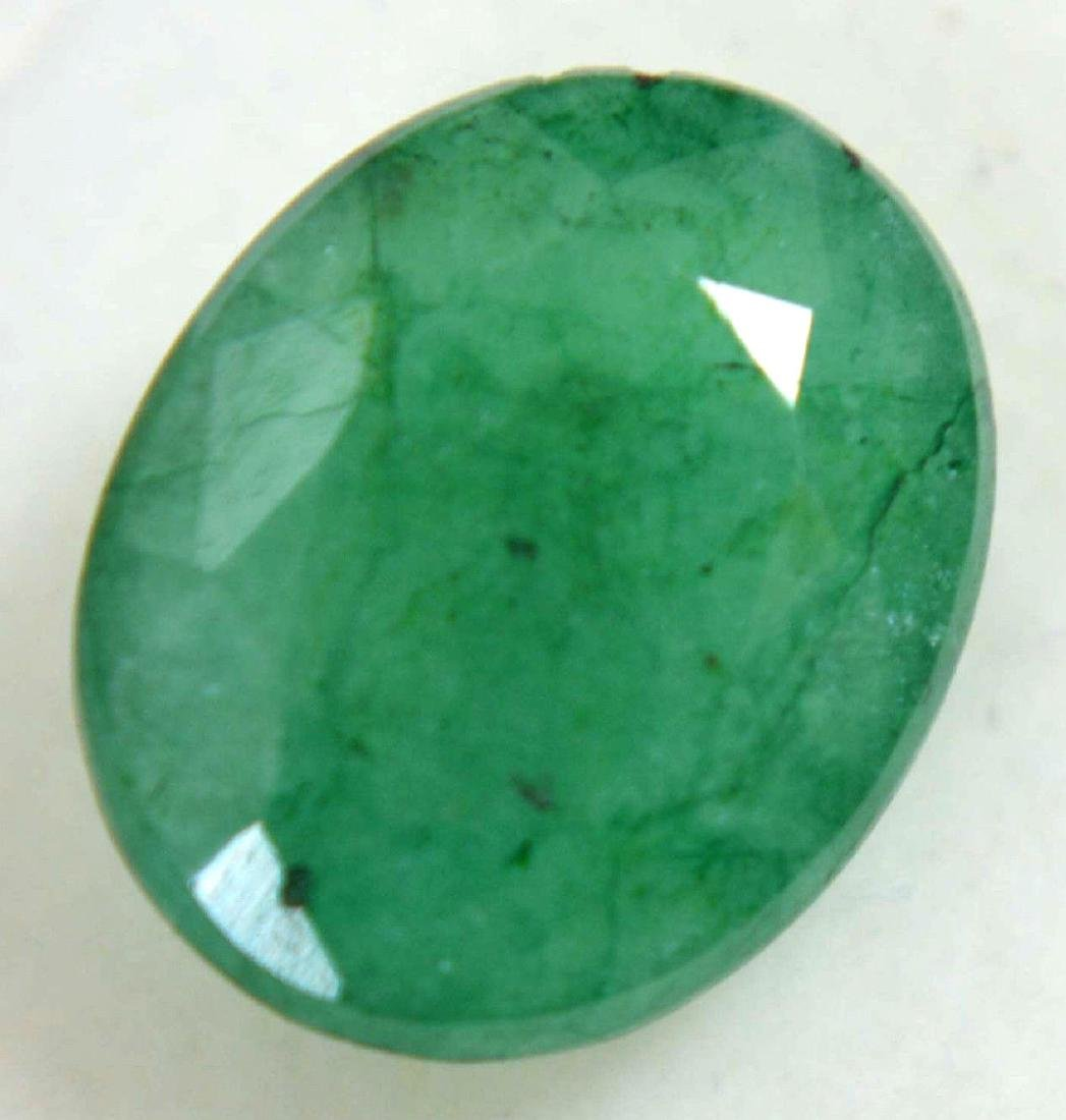 6.30 Ct Natural Green Colombian Emerald GGL Certified