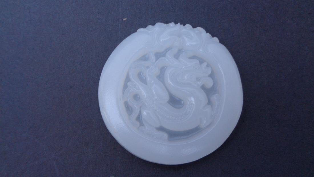 White jade hand-carved Dragon /Pendants