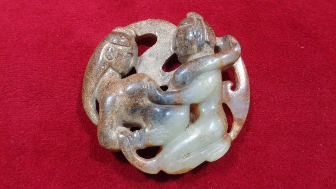 Natural Jade  Hand Carved Couple