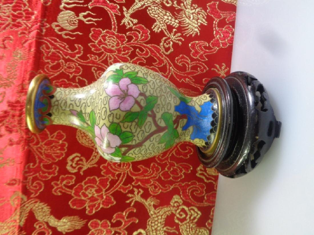 Cloisonne Vase Multicolored Flowers - 2