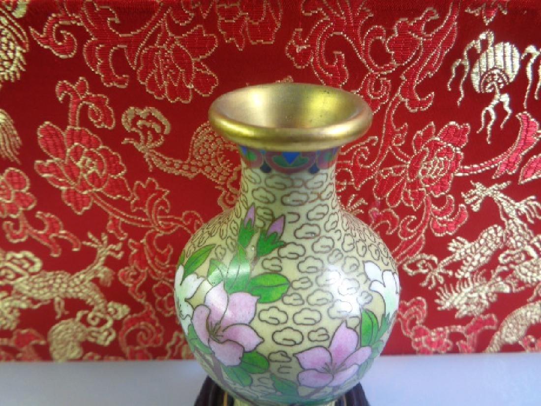 Cloisonne Vase Multicolored Flowers - 5